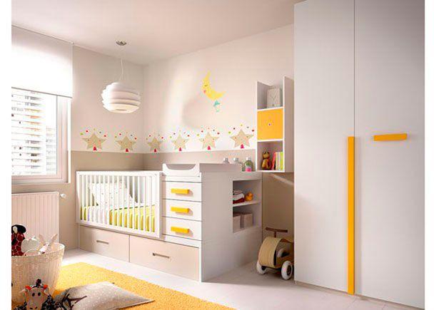 cuarto de beb con cuna convertible armario