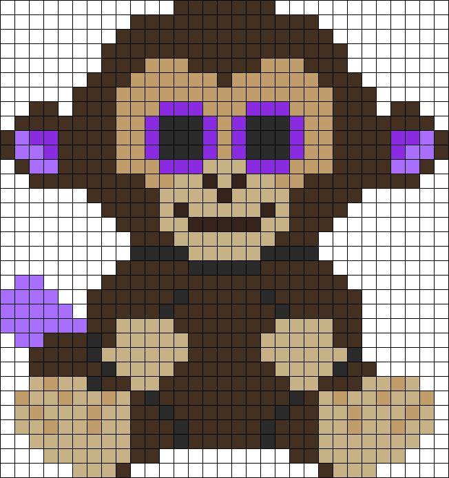 Coconut Monkey Beanie Boo Perler Bead Pattern
