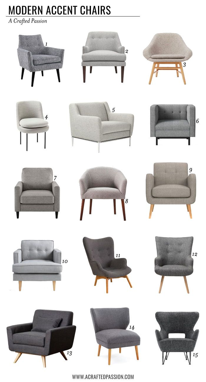 9 Modern Accent Chairs  Living room sofa design, Accent chairs
