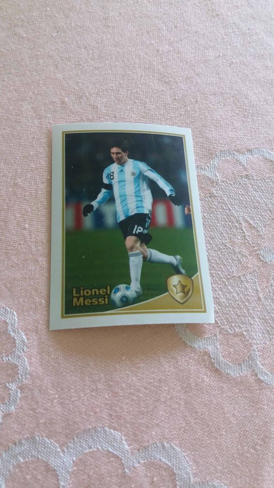 LIONEL MESSI Argentina Barcelona #94 WORLD CUP Football Fan 2010 Photo Luxor #Argentina