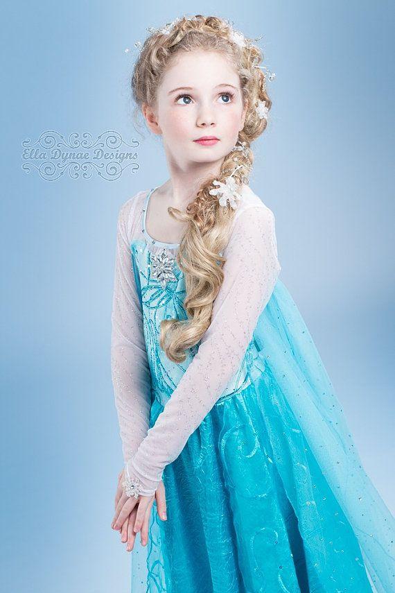 Frozen Custom Elsa Costume by EllaDynae on Etsy  sc 1 st  Pinterest & 100+ best Disfraces / Artistic Makeup images on Pinterest | Costume ...