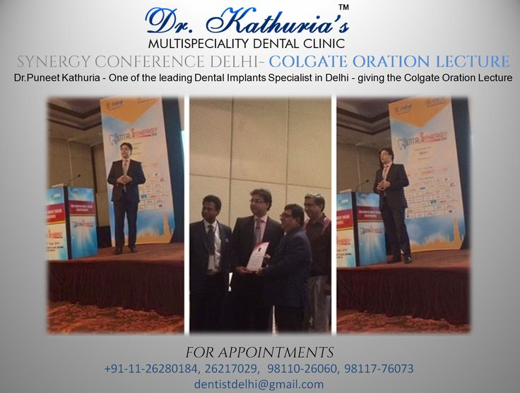 One of the top Dental Implants specialist in the country, Dr. Puneet Kathuria gave the Keynote #Colgate Oration lecture on Dental Implants at the recently concluded Dental Synergy conference in New Delhi, #India. #Dentalimplants