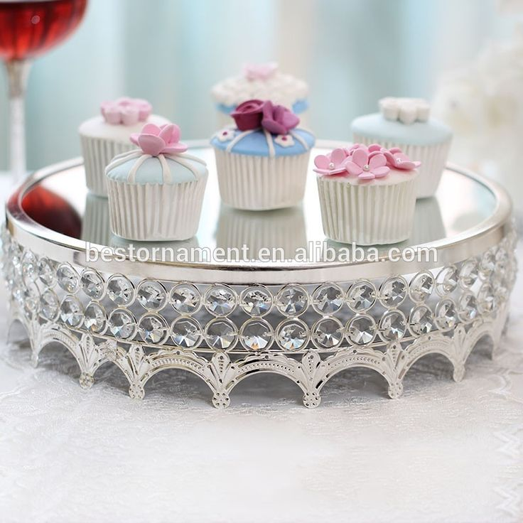 Round Silver Crystal and Metal Wedding Cake Stand, View crystal cake stands for wedding cakes, BestThings Product Details from Yiwu BestThings Ornament Co., Ltd. on Alibaba.com