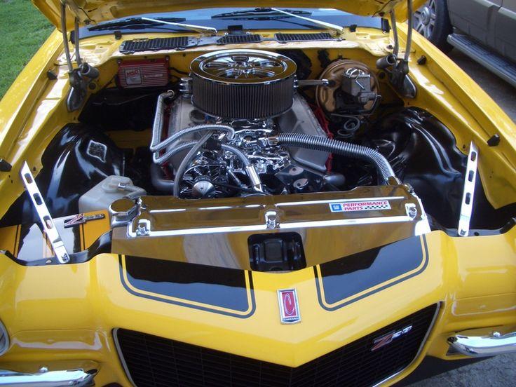 Custom fender braces engine bay view 1971 z28 camaro