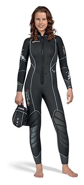 Mares 5mm Neoprene Pioneer Wetsuit Full Diving Suit with GlideSkin Surface Men's Women's / She Dives Scuba Diving