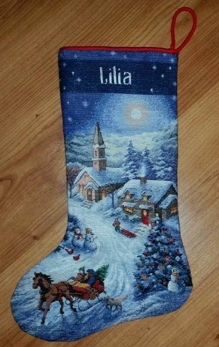 Lilia's Cross-stitch Christmas Stocking (2015)