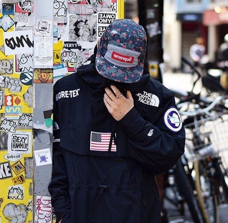 Supreme x tnf ss17 #streetwear men's fashion goretex streetstyle hat street