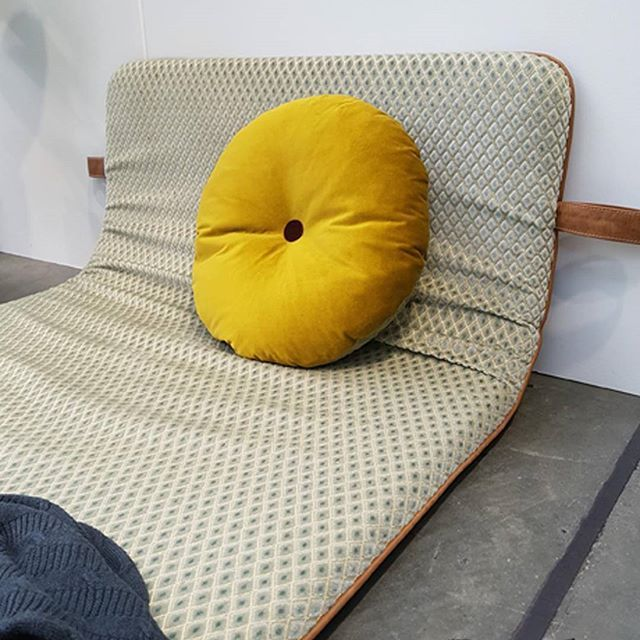 We love when people get inspired by THE M www.blog.peekaboodesign.dk/mustard-the-new-interior-colour/ #them #bythornam #velvet #green #mustard #northmodern #northmodern2016 #furniture #interiordesign