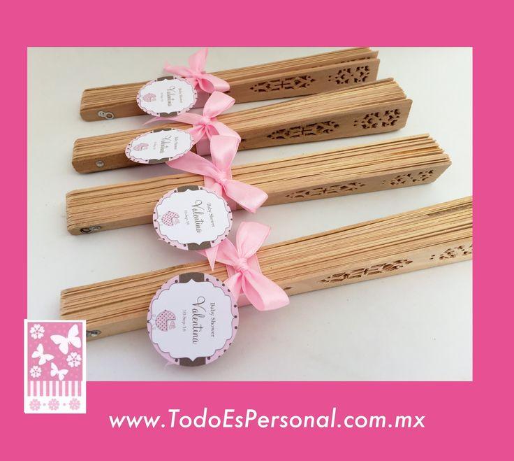 Abanicos para baby shower, recuerdos, detalles, niña. ($16.00 c/u) compra minima 10 piezas