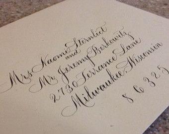Calligraphy Wedding envelope addressing by HadassahCalligraphy