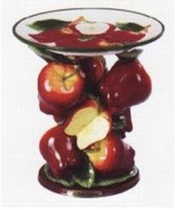 dish-plate-apple-red-dining-room-decorating