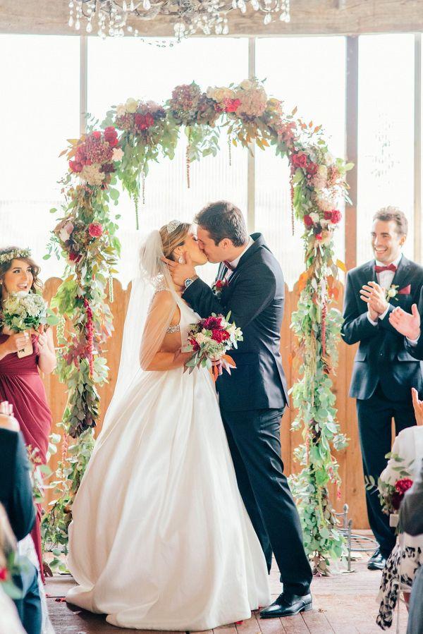 Romantic first kiss    #engaged #weddingideas #aislesociety #chateauwedding
