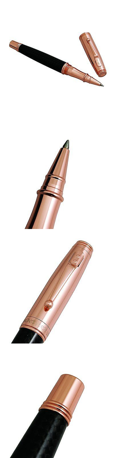 Pens and Pencils 102953: Monteverde Invincia Rose Gold With Black Carbon Fiber Rollerball Pen Mv40061 -> BUY IT NOW ONLY: $87.69 on eBay!