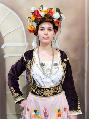 Traditional costume from Leykimmi, Corfu.