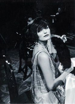Model Edita Vilkeviciute playing Coco Chanel in Karl Lagerfeld's silent film about Coco Chanel.