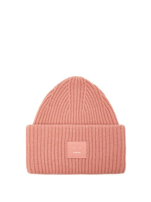 cd838fe8a52 ACNE STUDIOS Pansy S Face ribbed-knit beanie hat.  acnestudios ...