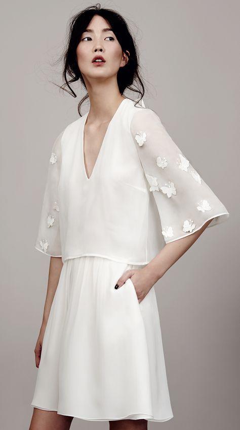 Papillon Sleeve Dress Mini