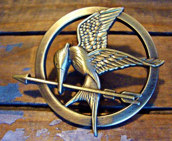 broochThe Hunger Games pendant Inspired Mockingjay by qizhouhuang, $4.80