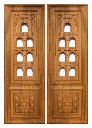 Temple shutter | Pooja room door design, Pooja door design ...