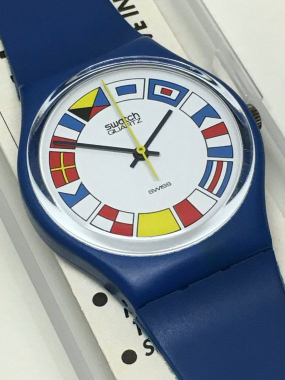 Vintage Swatch Watch 12 Flags GS101 1984 Near by ThatIsSoFunny