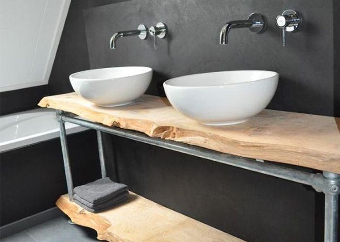 25 beste idee235n over industri235le badkamer op pinterest