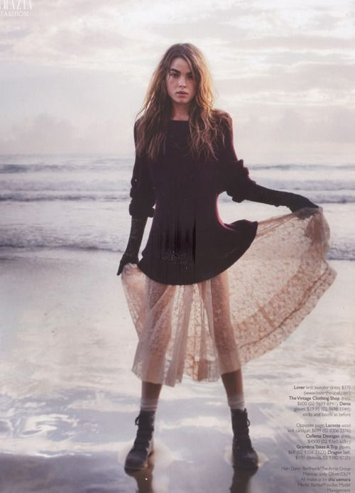 .: Bambi Northwood, Fashion Models, Clothing, Long Hair, Jumpers Dresses, Planets Blue, Fashion Photography, Sheer Skirts, My Style
