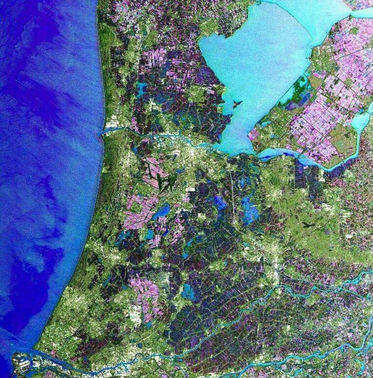 Netherlands seen by the satellite Envisat 22