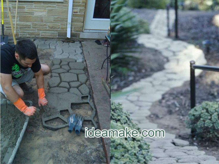 Diy Cement Patio Stone Mold | Plastic Mould For Paving Stone   Buy Paving  Stone,Concrete Paver Path ... | DIY | Pinterest | Cement Patio, Stone Molds  And ...