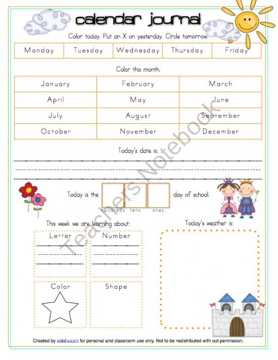 Calendar Journal For Kindergarten : Best circle time images on pinterest kindergarten