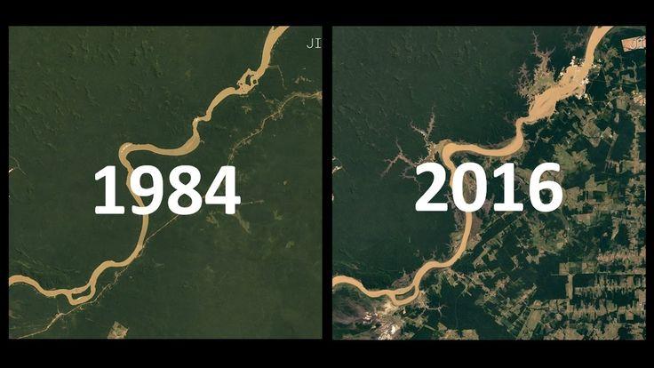 IMAGENS DE SATÉLITE 1984-2016: 32 Anos de Mudanças na Terra