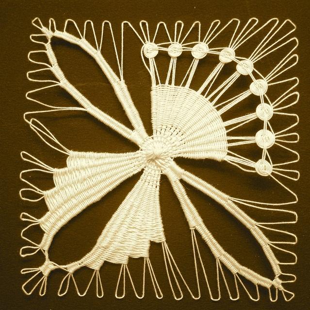 Teneriffe needle lace