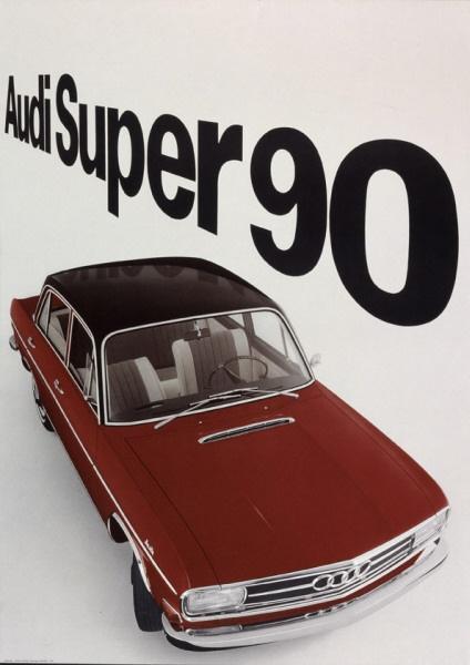 Audi Super 90, 1965  Design: Gerstner, Gredinger + Kutter, Werbeagentur AG,