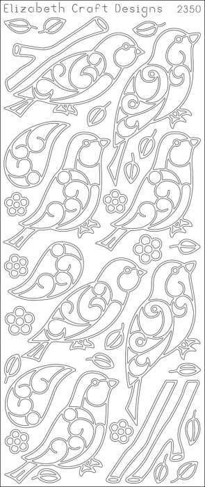 ELIZABETH CRAFT DESIGNS-Peel Off Outline Stickers: Birds and Branches. A great way to customize your craft and art projects! Use... (see details) $1.99