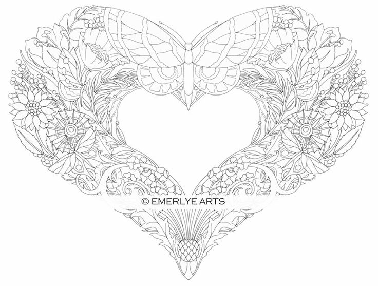 cynthia emerlye vermont artist and life coach butterfly heart an adult coloring page