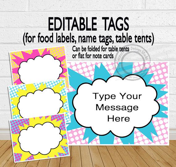 INSTANT DOWNLOAD Editable Superhero Party by OurSecretPlace