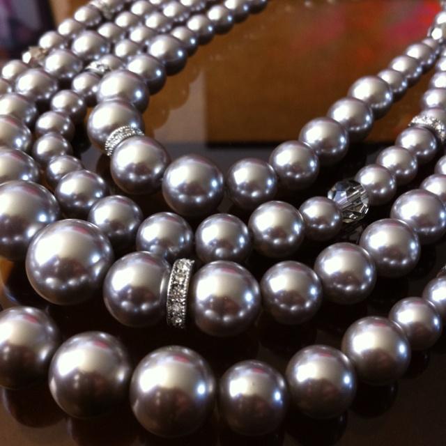 Grey Pearls (Banana Republic) My Style Pearls, Pearl