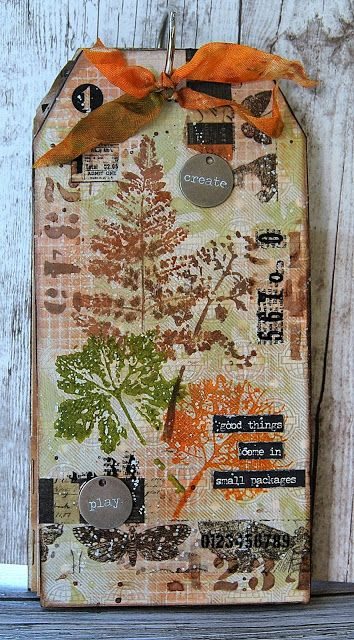 Kath's Blog......diary of the everyday life of a crafter: Good things come in small packages...; Oct 2016  #timholtz #rangerink #sizzix #stampersanonymous
