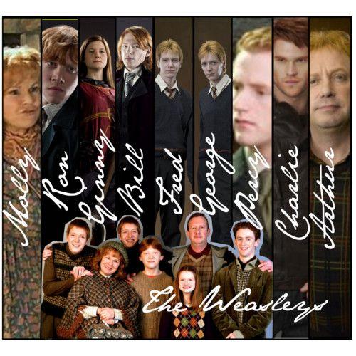The Weasley Family   Harry Potter   Pinterest