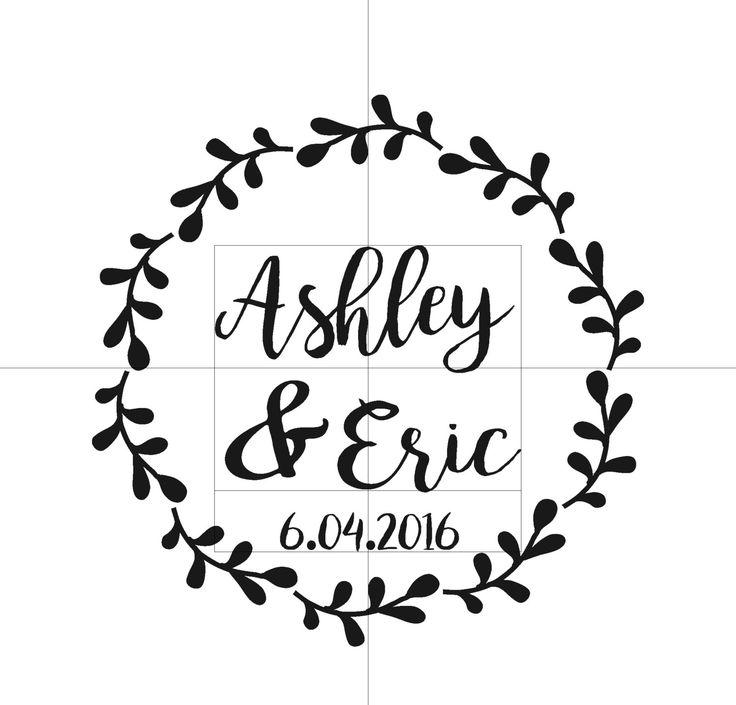 Wedding Monogram Cornhole Decal Set | Bride and Groom CornHole Sticker…