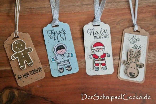 Stampin Up Ausgestochen Weihnachtlich Lebkuchenmännchen wildleder Weihnachtsmann Rentier Eskimo - Drauf und Dran - DerSchnipselGecko http://dini.derschnipselgecko.com/category/meine-kreationen/geschenkanhaenger-ausgestochen-weihnachtlich/