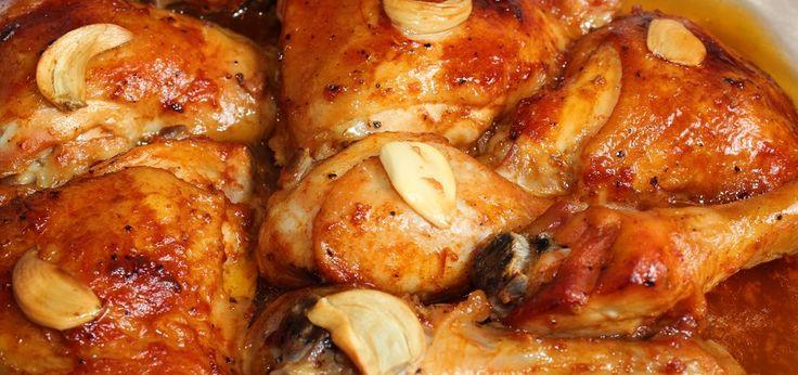 Kurczak w marynacie miodowo-ketchupowej z czosnkiem - main
