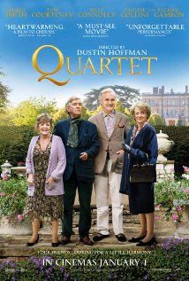 [capsule review] Quartet - Not the typical we-only-look-old quirky old folks ensemble movie.  Age has taken it's toll on these folks, but they are still quirky and managing to live full lives.  Sad and heartwarming all at the same time.  (Arclight, 2/27/13)