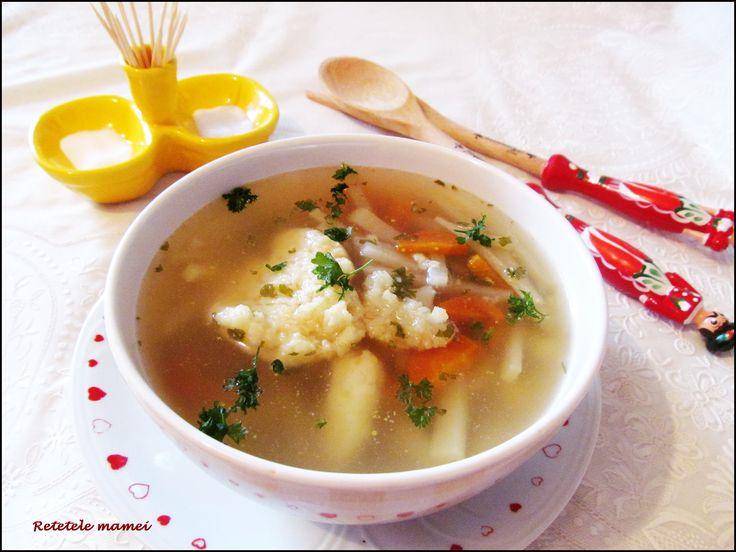 Supă de zarzavat cu gulii și găluști