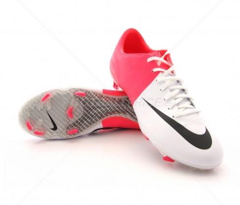 botas de fútbol nike mercurial vapor viii fg adulto white  solar red 179