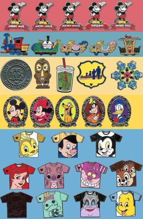 Checklist Hidden Mickey Pins   Hidden Mickey Pins 2010