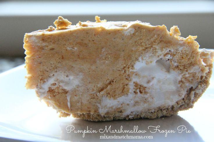 Mix and Match Mama: Pumpkin Marshmallow Frozen Pie