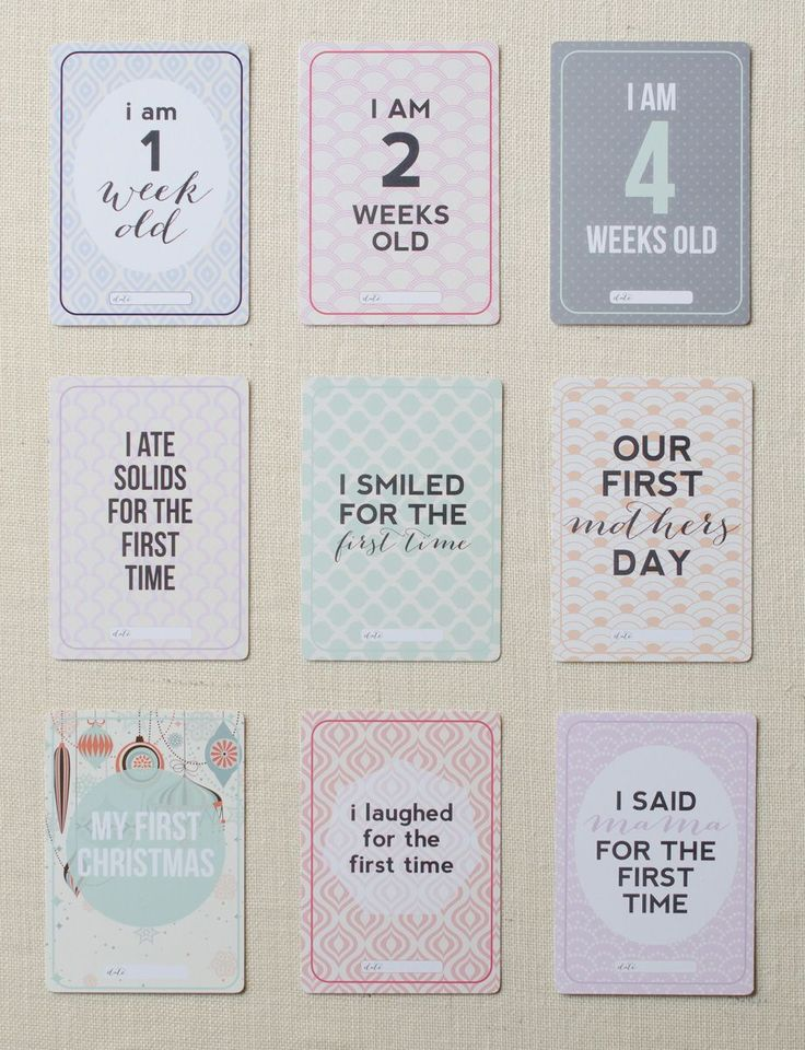 Printz Baby Milestone Cards Preview