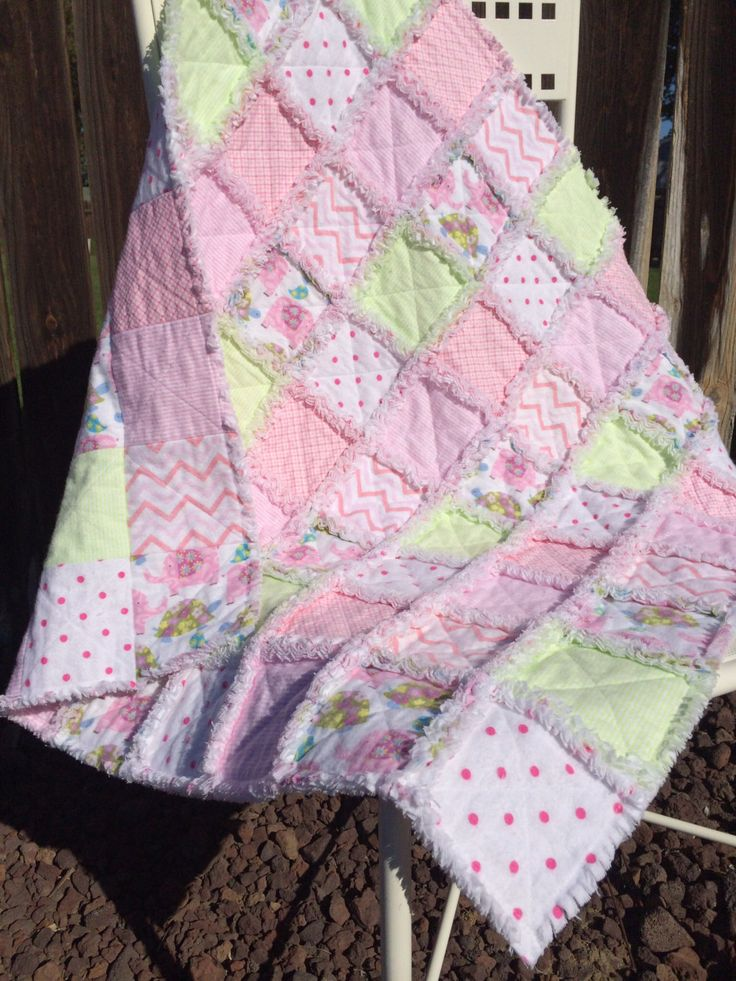 Baby Rag Quilts Rag Quilt And Flannels On Pinterest