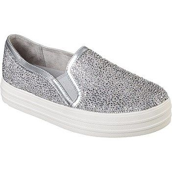 Skechers Women's Double Up Glitzy Gal Memory Foam Slip On Sneaker at Famous Footwear