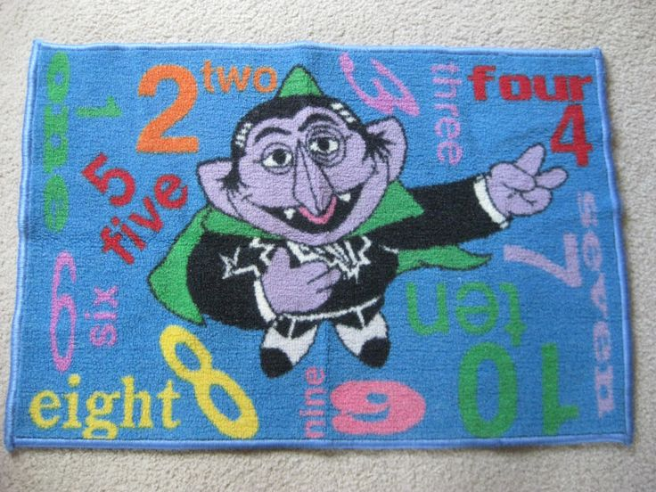 Vintage RARE The Count Rug By VintageByThePound On Etsy · The CountSesame  Streets